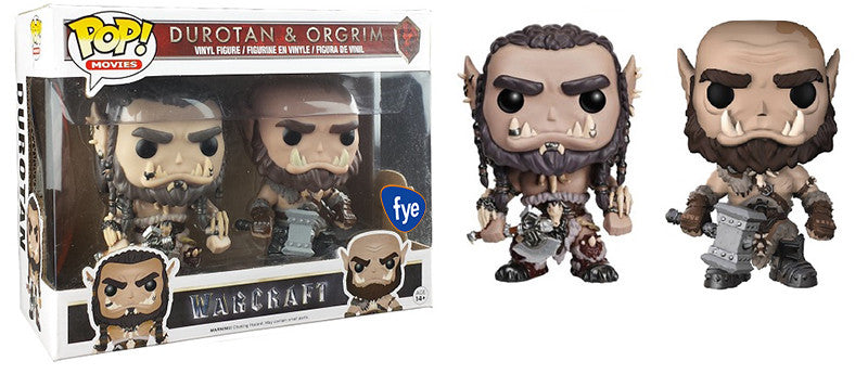 Durotan & Orgrim (Warcraft) 2-Pack - Fye Exclusive Pop Head