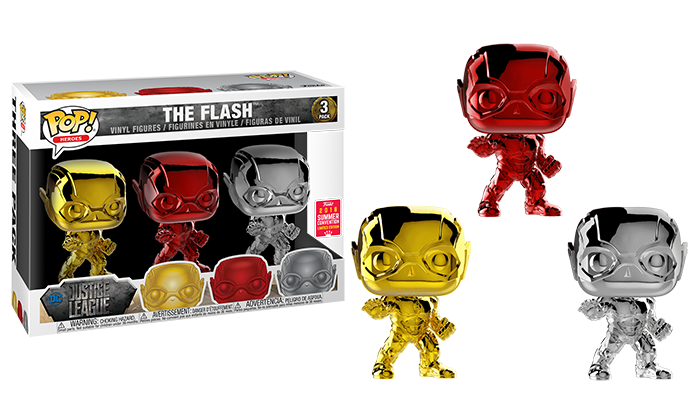The Flash (Justice League, Chrome) 3-pk - 2018 Summer Convention Exclusive  [Damaged: 6/10]