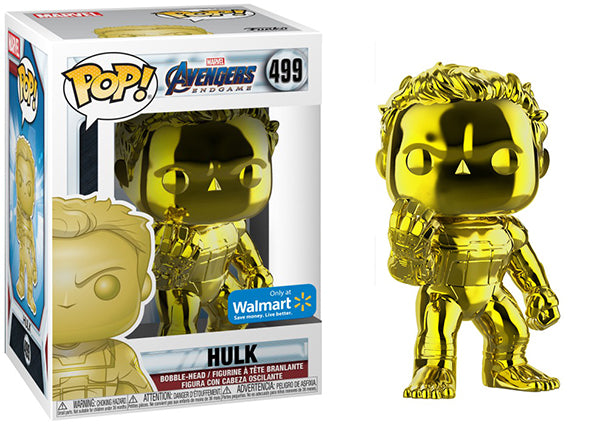 Hulk (Yellow Chrome, Endgame) 499 - Walmart Exclusive