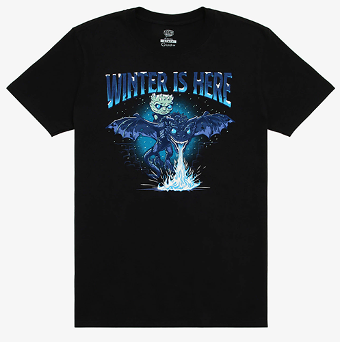 Pop! Tees Winter is Here T-Shirt (L) -  Box Lunch Exclusive