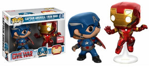 Captain America/Iron Man Action Pose 2-Pack (Civil War) - Marvel Collector Corps Exclusive Pop Head