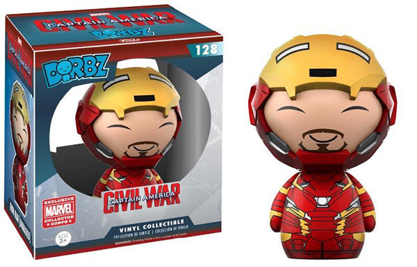 Dorbz Iron Man (Unmasked Civil War) 128 - Marvel Collector Corps Exclusive Pop Head