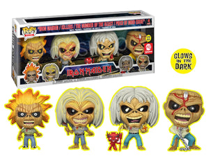 > Iron Maiden  (Glow in the Dark) 4-Pack - Funko AE Exclusive
