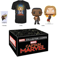 Marvel Collector Corps Box (Captain Marvel, Unsealed, Shirt Size M)