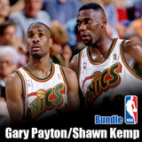 Signature Series Sonic Boom Bundle - Gary Payton & Shawn Kemp Signed Pops