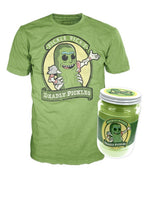 Pickle Rick Shirt in Jar (Size XL, Sealed, Rick & Morty) - 2017 New York Comic Con Exclusive