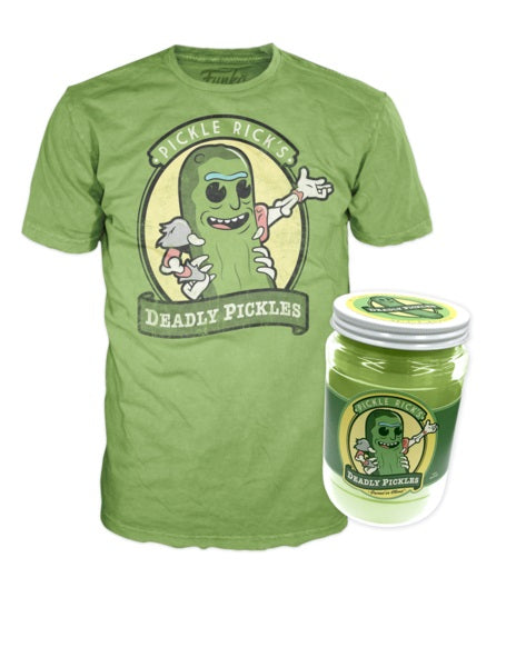 Pickle Rick Shirt in Jar (Size L, Sealed, Rick & Morty) - 2017 New York Comic Con Exclusive