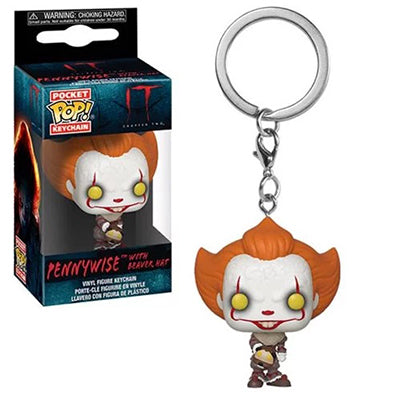 Pocket Pop Keychain Pennywise w/ Beaver Hat (It)