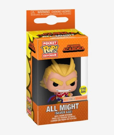 Pocket Pop Keychain All Might (Silver Age, Glow, My Hero Academia) - Box Lunch Exclusive