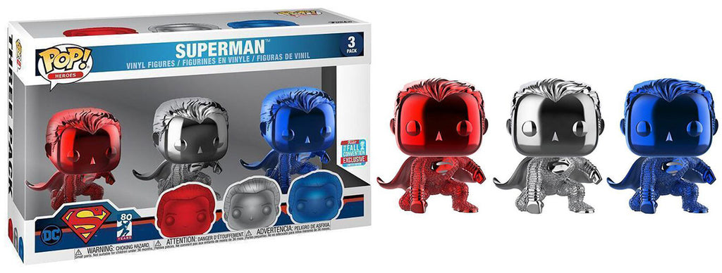 Superman (Justice League, Chrome) 3-Pack - 2018 Fall Convention Exclusive