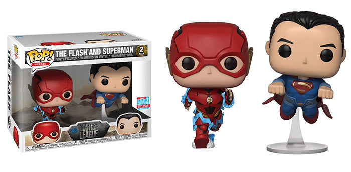 The Flash & Superman (Racing, Justice League) 2-pk - 2018 Fall Convention Exclusive  [Damaged: 7/10]