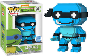 Leonardo (8-Bit Neon, Teenage Mutant Ninja Turtles) 04 - Funko Shop Exclusive  [Damaged: 6/10]