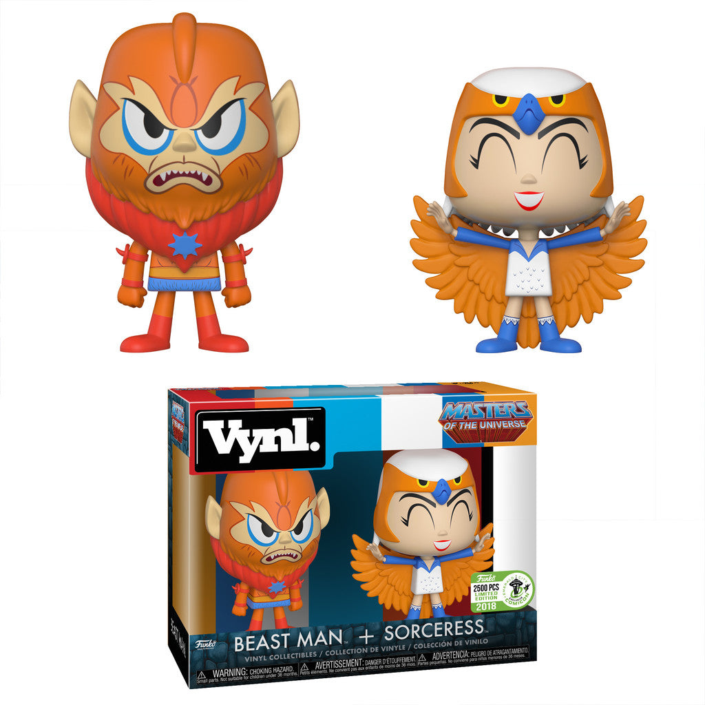Funko Vynl. Beast Man & Sorceress - 2018 ECCC Exclusive /2500 made