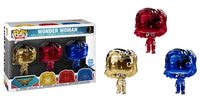 Wonder Woman (Gauntlets, Chrome) 3-pk - Funko Shop Exclusive  [Damaged: 7.5/10]