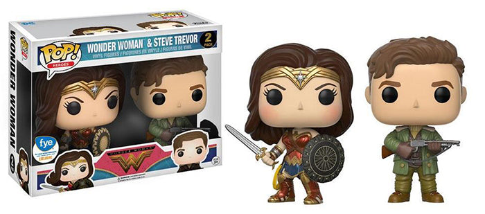 Wonder Woman & Steve Trevor 2-pk - FYE Exclusive  [Damaged: 7/10]