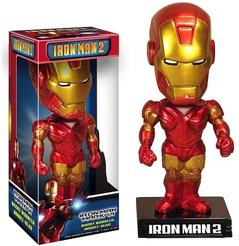 Funko Wacky Wobbler Iron Man Mark VI (Iron Man 2)  [Box Condition: 7.5/10]