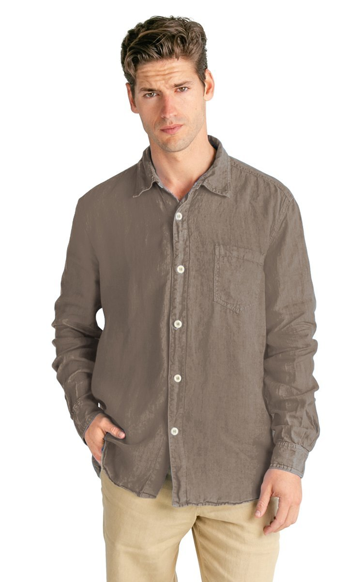 100% Hemp Men's Long Sleeve Button Down Shirt - Vital Hemp, Inc.