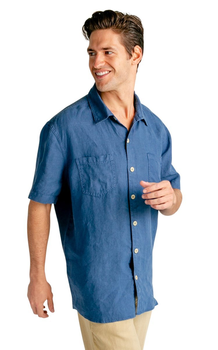 100% Hemp Men's Short Sleeve Button Down Shirt - Vital Hemp, Inc.