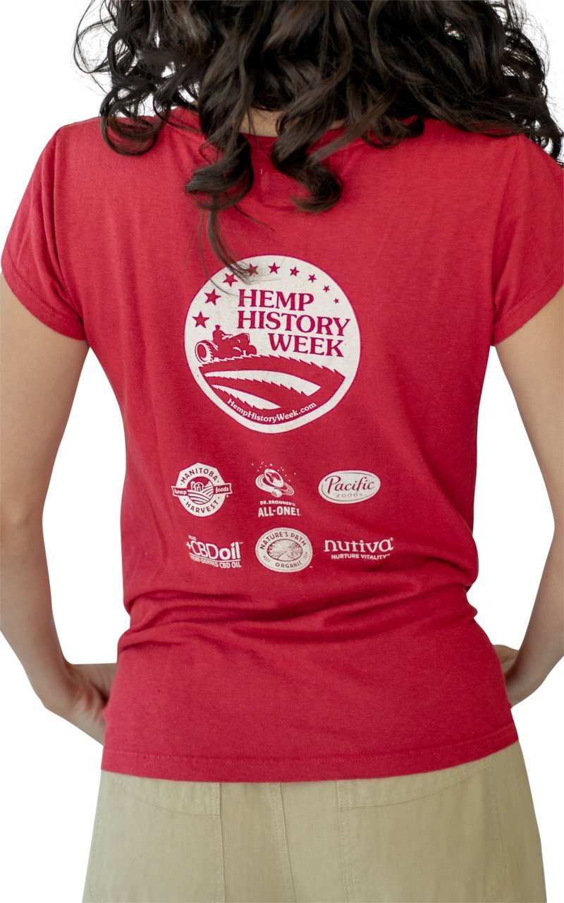 Hemp History Week 2018 Hemp V-neck Tee - Vital Hemp, Inc.