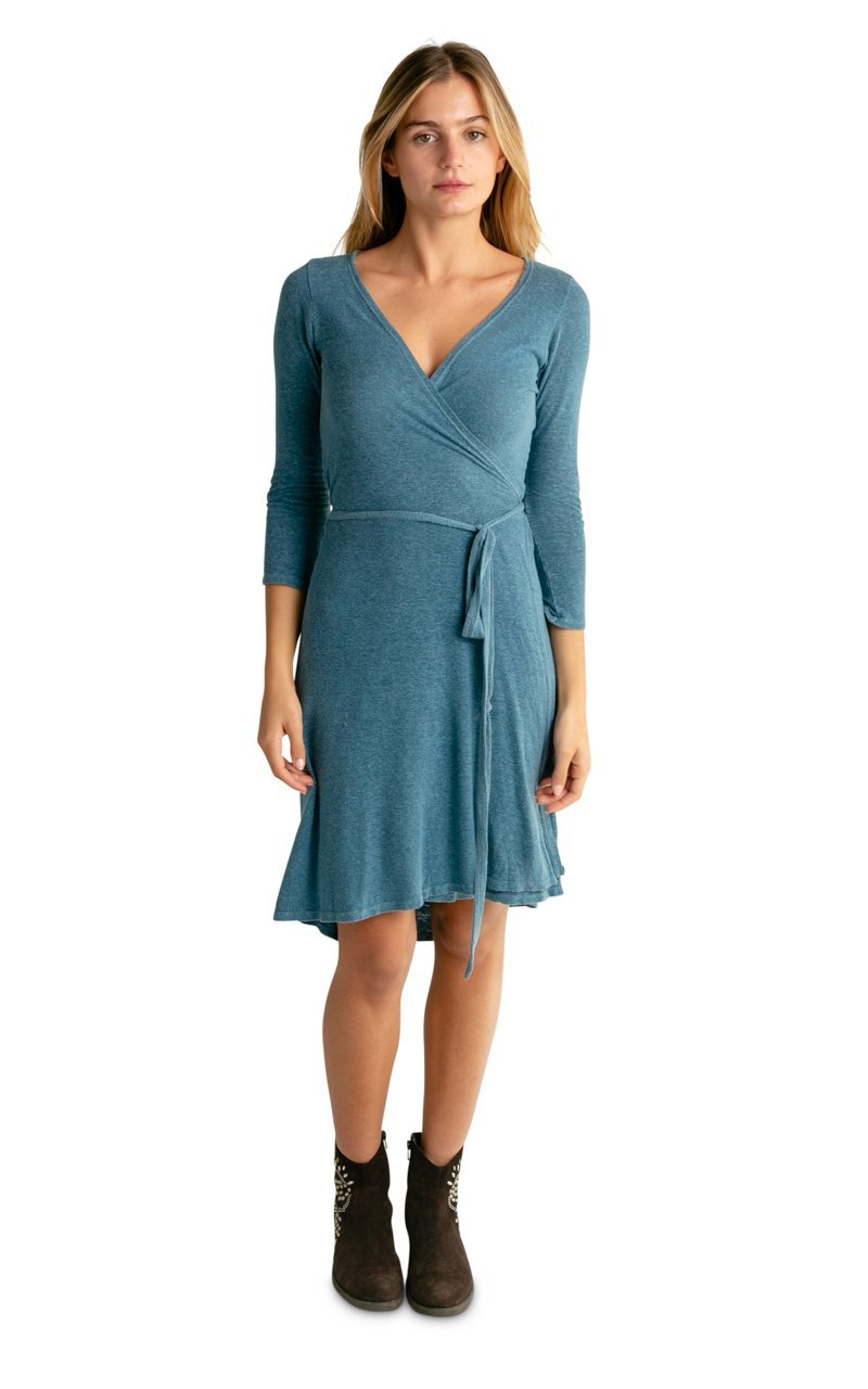 Hemp Tencel Wrap Dress - Vital Hemp, Inc.