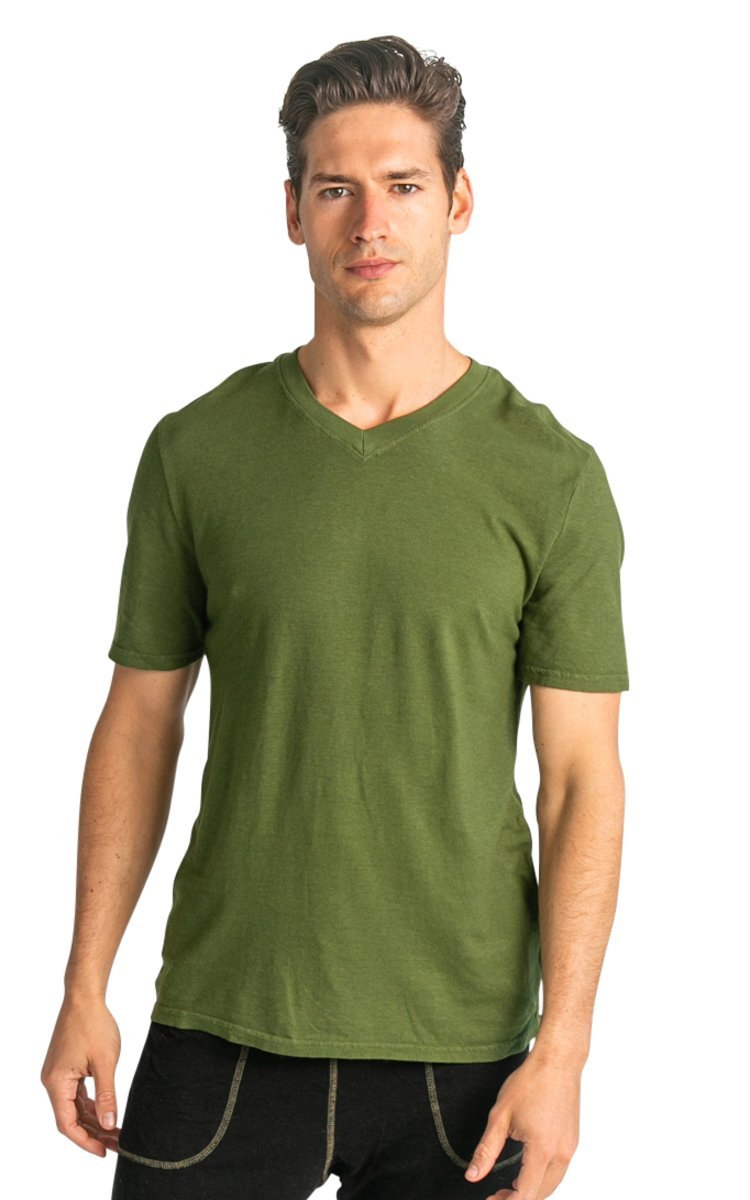 Men's V-Neck Hemp T-shirt - Vital Hemp, Inc.