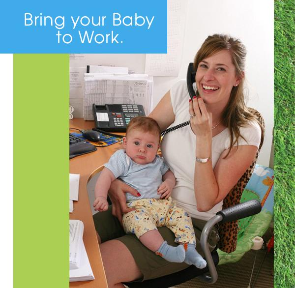 At Zutano it's always Bring Your Baby to Work Day!