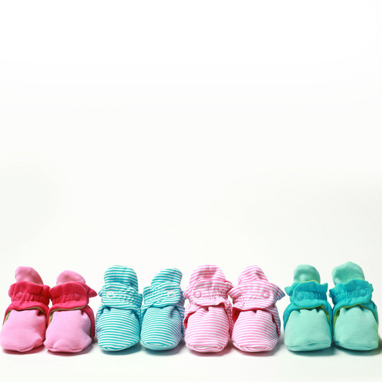 colorful baby booties