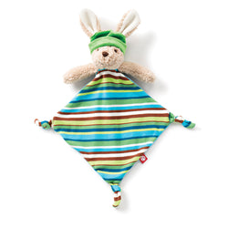 Zutano baby Blanket Apple Stripe Hip Hoppy Bunny Blankie