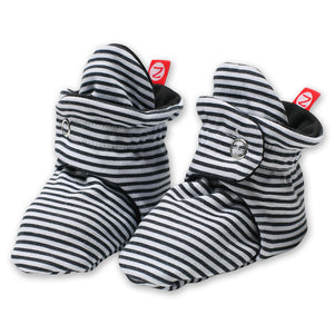 Zutano baby Bootie Candy Stripe Cotton Bootie - Black