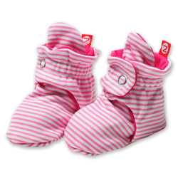Zutano baby Bootie Candy Stripe Cotton Bootie - Hot Pink