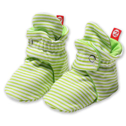 Zutano baby Bootie Candy Stripe Cotton Bootie - Lime