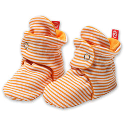 Zutano baby Bootie Candy Stripe Cotton Bootie - Orange
