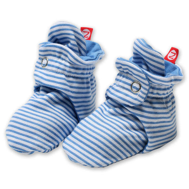 Zutano baby Bootie Candy Stripe Cotton Bootie - Periwinkle