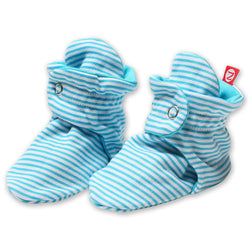 Zutano baby Bootie Candy Stripe Cotton Bootie - Pool