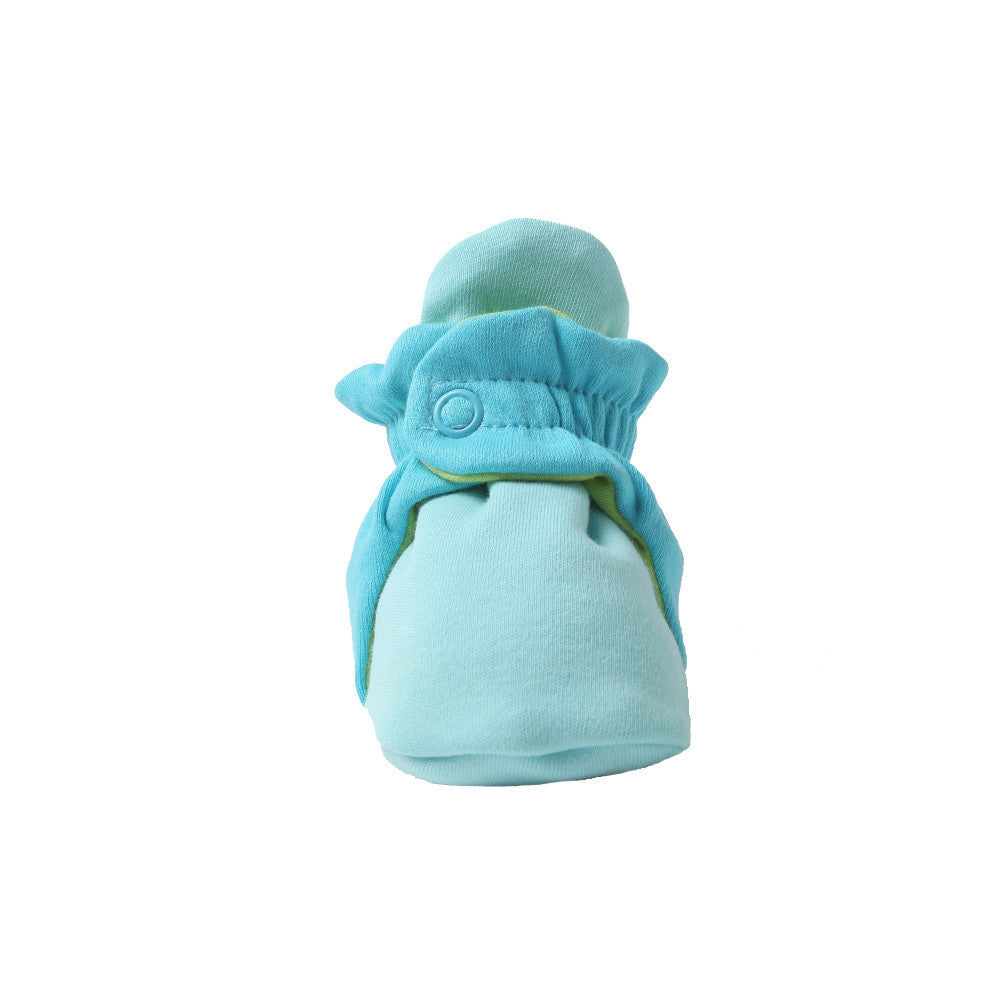 Zutano baby Bootie Color Block Cotton Bootie - Aqua