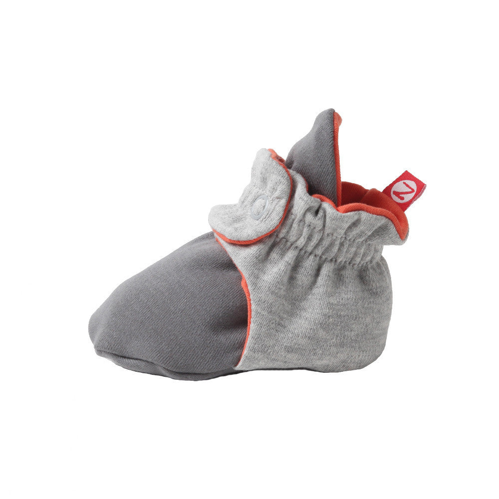 Zutano baby Bootie Color Block Cotton Bootie - Gray