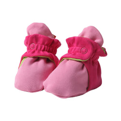 Zutano baby Bootie Color Block Cotton Bootie - Hot Pink