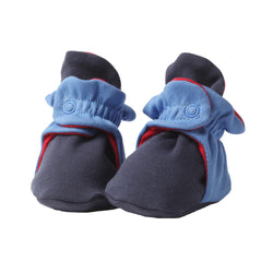 Zutano baby Bootie Color Block Cotton Bootie - Navy