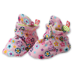 Zutano baby Bootie Flower Shower Cotton Bootie