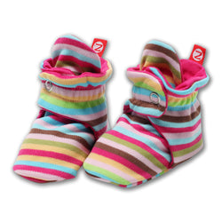Zutano baby Bootie Super Stripe Cotton Bootie
