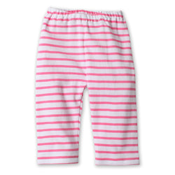 Zutano baby Bottom Breton Stripe Baby Pant - Hot Pink