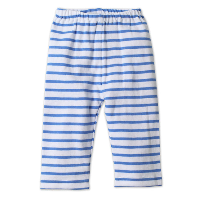 Zutano baby Bottom Breton Stripe Cotton Baby Pant - Periwinkle