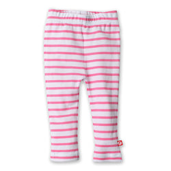 Zutano baby Bottom Breton Stripe Skinny Legging - Hot Pink