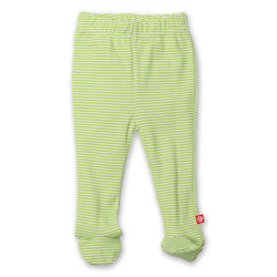 Zutano baby Bottom Candy Stripe Footed Pant - Lime