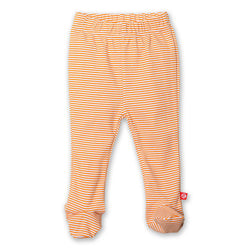 Zutano baby Bottom Candy Stripe Footed Pant - Orange