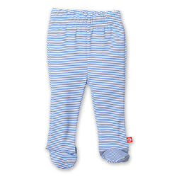 Zutano baby Bottom Candy Stripe Footed Pant - Periwinkle
