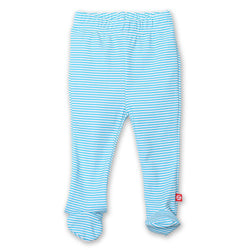 Zutano baby Bottom Candy Stripe Footed Pant - Pool