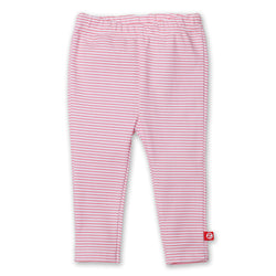 Zutano baby Bottom Candy Stripe Skinny Legging - Hot Pink