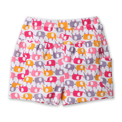 Zutano baby Bottom Ellas Elephants Puff Pocket Short