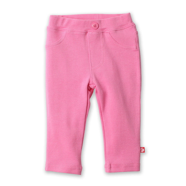 Zutano baby Bottom Stretch Knit Legging - Hot Pink